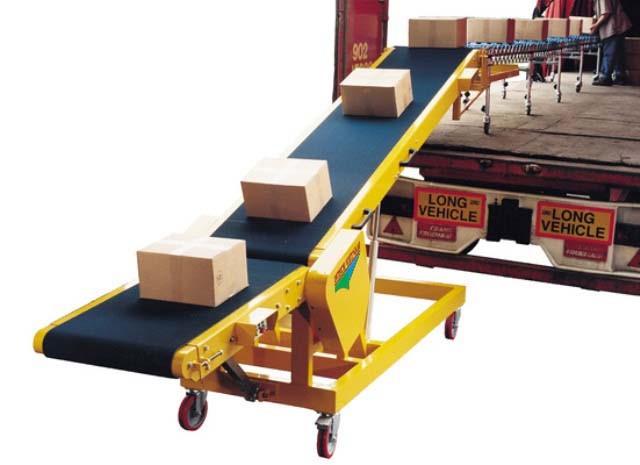 Lắp đặt hệ thống băng tải nâng hạ chuyển hàng lên xe tải
