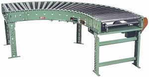 Băng tải con lăn cong và cấu tạo của băng tải