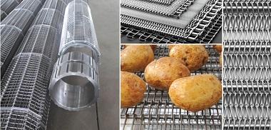 Băng tải lưới inox đáp ứng được tiêu chuẩn khắt khe trong ngành kinh doanh chế biến