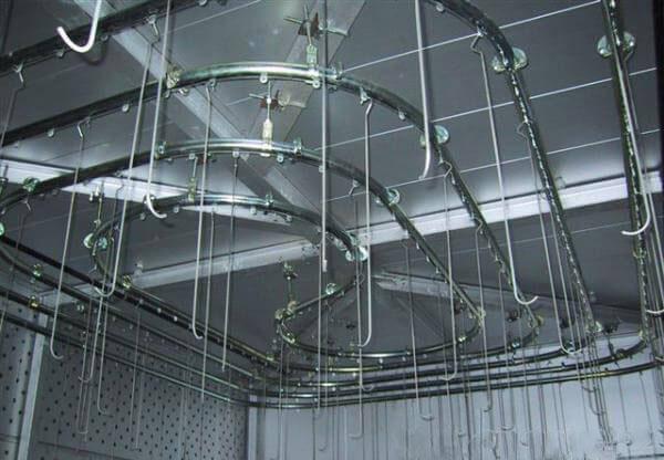 Hệ thống băng tải trên cao thiết kế và các bộ phận