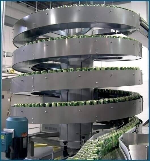 Sử dụng băng tải xoắn ốc cho ngành công nghiệp thực phẩm