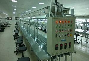 Thi công băng tải lắp ráp linh kiện điện tử
