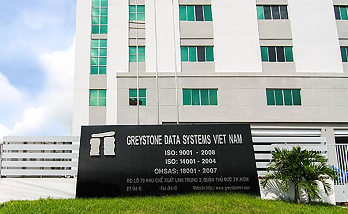 Thi công con lăn inox cho công ty công ty Greystones Data Systems Việt Nam